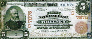 First National Bank of Whitney note