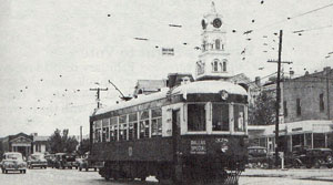 Interurban in Hillsboro around 1947